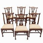 Early 19th Century Set of Six Chippendale Gothic Style Dining Chairs