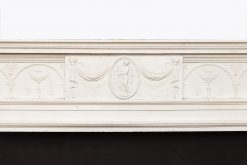 18th Century Adam Fire Surround of statuary marble