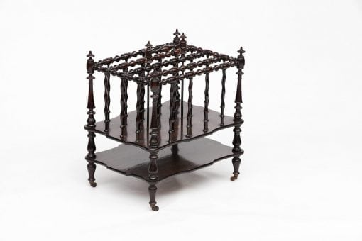 Early 19th Century Regency Rosewood Travelling Canterbury