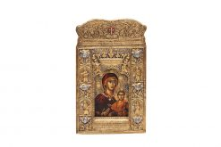 Early 20th Century Greek Icon in the 18th Century Style Depicting The Virgin and Christ Child