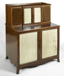 Early 19th Century Regency Burr Walnut Cabinet with Satinwood Inlay