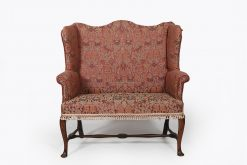 Early 18th Century Georgian Wing Back Two Seater Sofa
