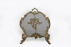 19th Century Louis XV Style Rococo Gilt Bronze Fire Screen