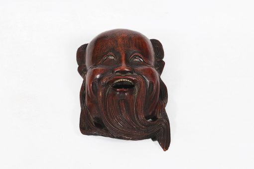 19th Century Japanese Cherrywood Mask