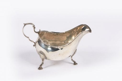 9806 - 18th Century Irish Silver Cream Boat