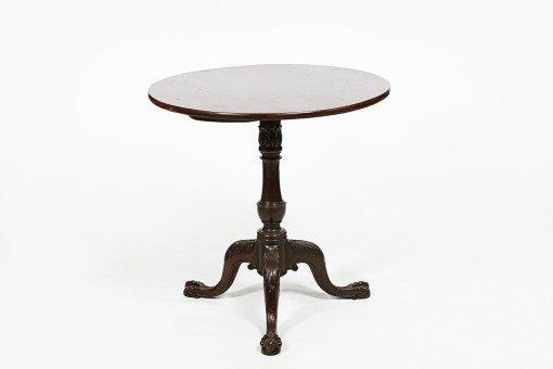 18th Century George III Mahogany Circular Tip Up Table