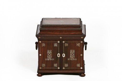 19th Century William IV Rosewood and Mother of Pearl Jewelry Box