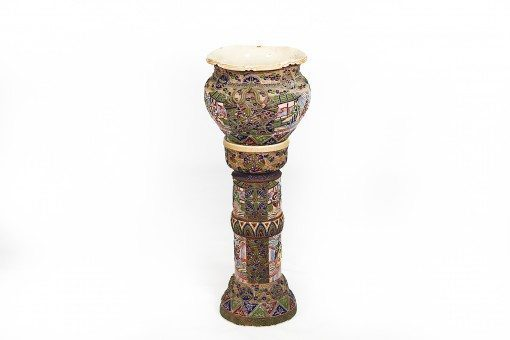 19th Century Regency Oriental Jardiniere On Stand