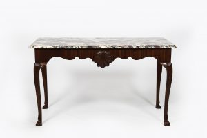 18th Century Irish Side Table with 'Medicis Breccia' Marble Top