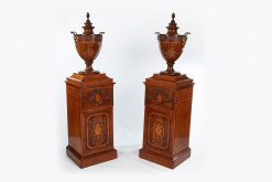 Early 19th Century George III Pair of Wine Cooler Urns on Pedestals.