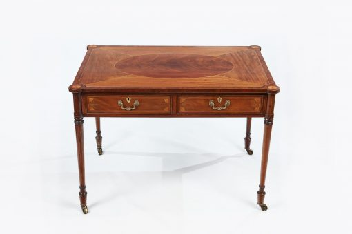 Early 19th Century George III Mahogany Library Writing Table