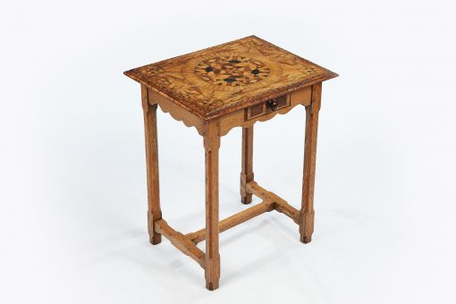 17th Century Oak and Fruit Wood MarquetrySide Table