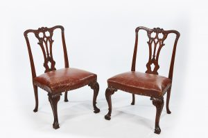 18th Century Georgian Pair of Rosewood Open Splat Chairs