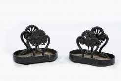 19th Century William IV Pair of Cast Iron Foot Scrapers