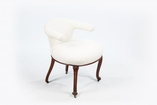 19th Century Unusually Shaped Parlour Chair