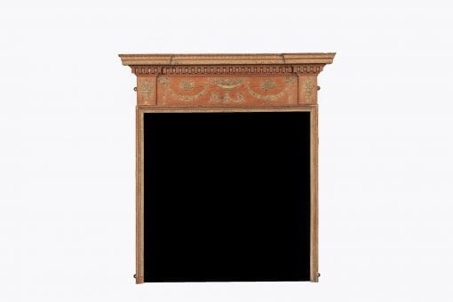 10153 - 18th Century Georgian Neoclassical Pine and Gesso Fire Surround after Adams