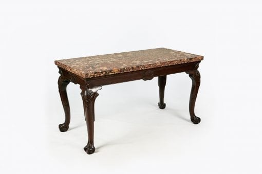 10157 - Early 19th Century George III Irish Side Table with Sienna Marble Top