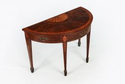10209 - Early 19th Century Regency Demilune Table after William Moore