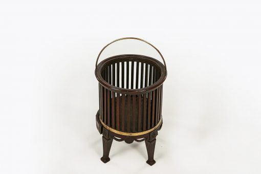 10210 - 18th Century Georgian Mahogany Brass Bound Chestnut Bucket
