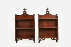 10214 - Early 19th Century William IV Pair of Hanging Wall Shelves after Chippendale