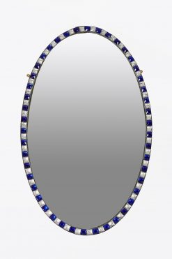 10260 - 19th Century Irish Waterford Pair of Oval Mirror