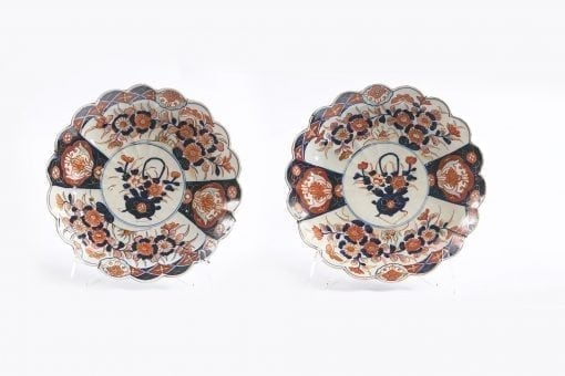 10053 - 19th Century Pair of Imari Plates from the Meiji Period