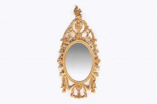 10279 - 19th Century Irish Giltwood Oval Mirror
