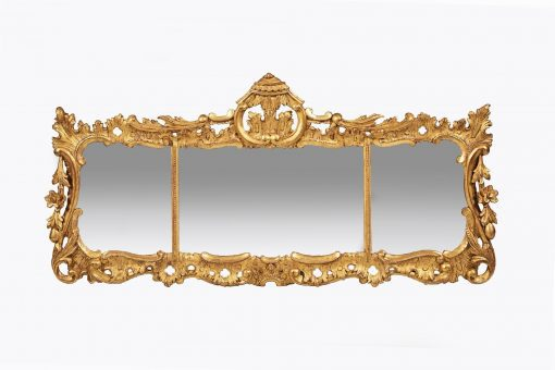 10315 - Early 19th Century Regency Giltwood Overmantel Mirror after Chippendale