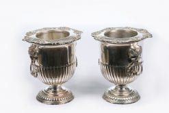 10217 - 19th Century Pair of Silver Plate Champagne Buckets