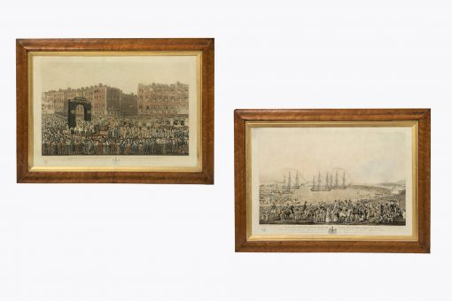 10399 - Early 19th Century Pair of Engravings 'George IV Visiting Dublin'