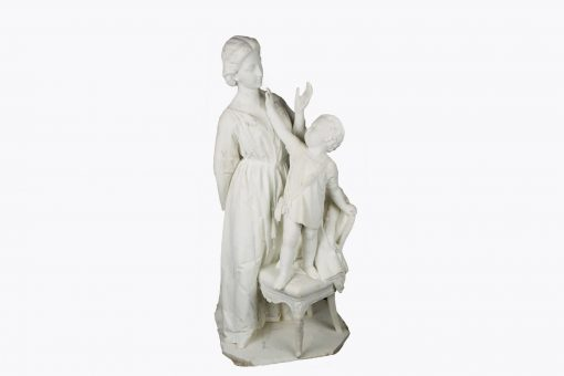 10320 - Early 19th Century Marble sculpture of Mother and Child
