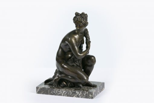 10345 - 19th Century Figural Bronze of the Greek Nymph Khelone