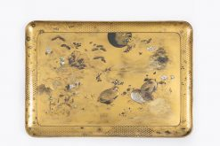 10362 - 19th Century Meiji Shibayama Gilt Lacquered Tray