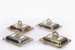 10379 - Mid 19th Century Set of Four Silver Plate Entree Dishes