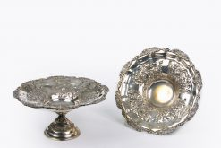 10380 - Mid 19th Centuyr Pair of Silver Plate Tazza's