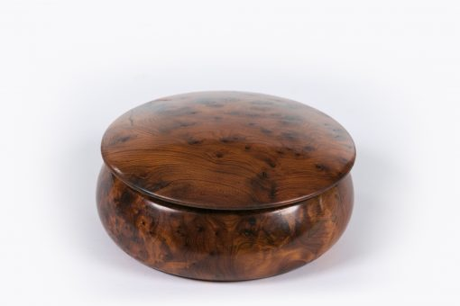 10390 - 19th Century Burr Oak Keepsake Box