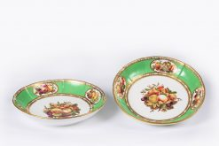 10394 - Early 19th Century Regency Spode Pair of Porcelain Hand Painted Desert Dishes