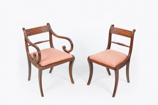 10513 - Early 19th Century Regency Set of Ten Dining Chairs