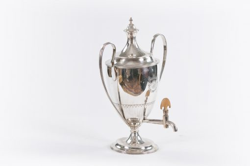 10330 - 18th Century George III Silver Adams Style Neoclassical Tea Urn