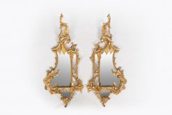 10443 - Early 19th Century Pair of Giltwood Mirrors after Chippendale