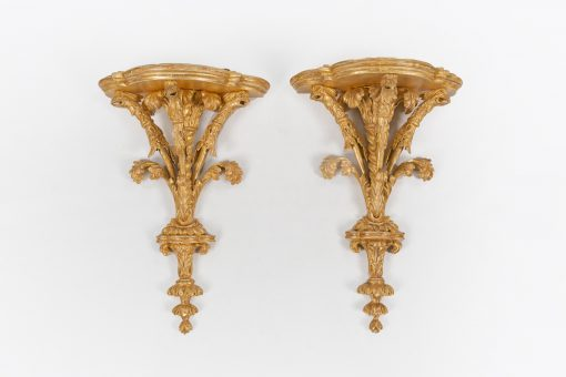 10461 - Early 19th Century Regency Pair of Giltwood Wall Brackets