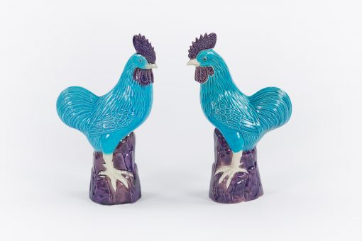 10471 - Early 20th Century Pair of Chinese Cockerals