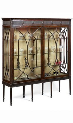 10021 - Early 19th Century Display Cabinet by Gillows of Lancaster and London