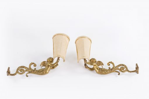 10501 - Early 19th Century Neoclassical Pair of Wall Sconces