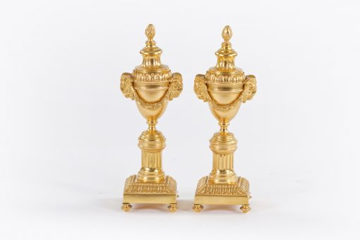 10505 - 18th Century Pair of Gilded Bronze Cassolettes attributed to Matthew Boulton