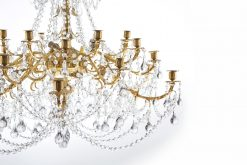 6335 - 19th Century French Large Ormolu and Baccarat Crystal Chandelier