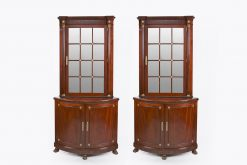 9638 - A Pair of Irish 19th Century Corner Cabinets