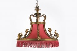 10007 - 19th Century Four Electrified Chandelier