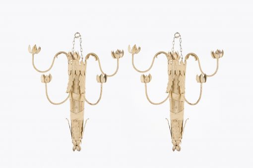 10337 - 19th Century Pair of Five Branch Sconces