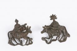 10472 - 18th Century Chinese Pair of Bronze Wall Appliques